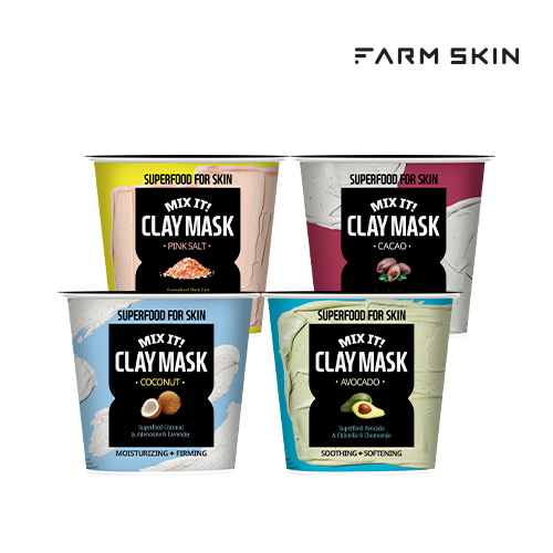 [FARMSKIN] SUPERFOOD FOR SKIN MIX IT! CLAY MASK[ファームスキン]スーパーフードファスキンミックスイット!クレイマスク