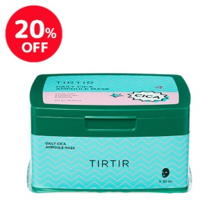 ★[20%OFF][TIRTIR] DAILY CICA AMPOULE MASK 30ea / [ティルティル] デイリーシカアンプルマスク 30枚 韓国コスメ