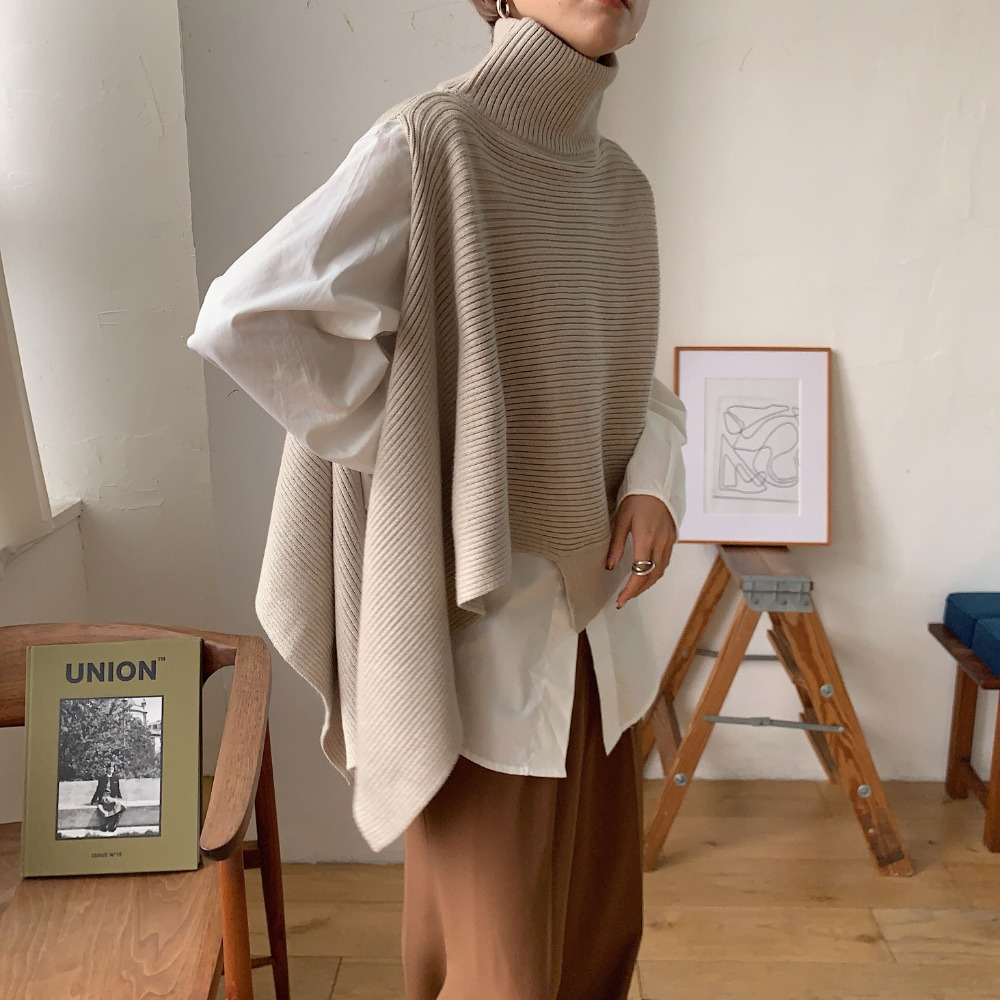《予約販売》2set unique knit cape/2colors