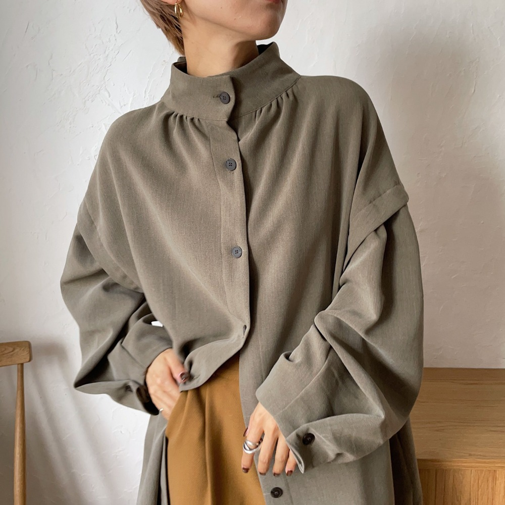 【nokcha original】2way quality lady ops/deep khaki