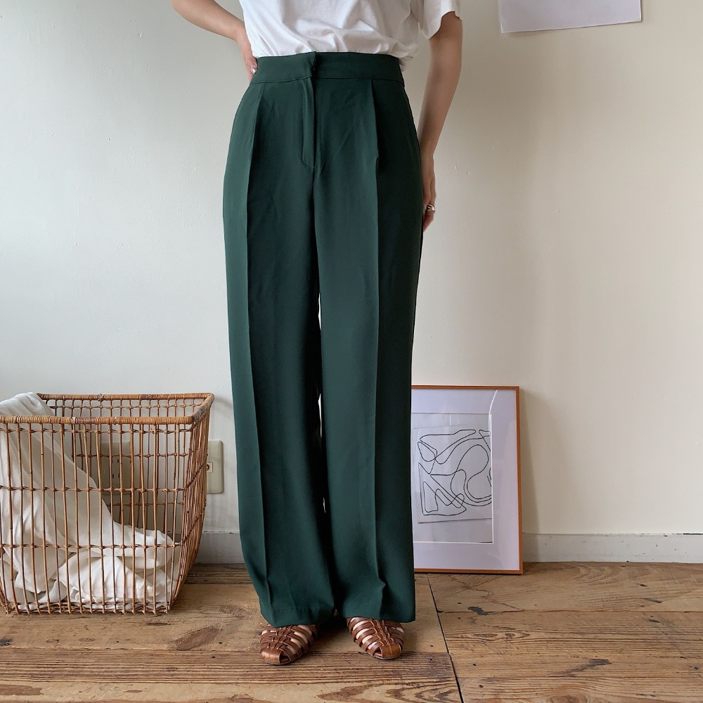 daily wide slacks pants/2 colors