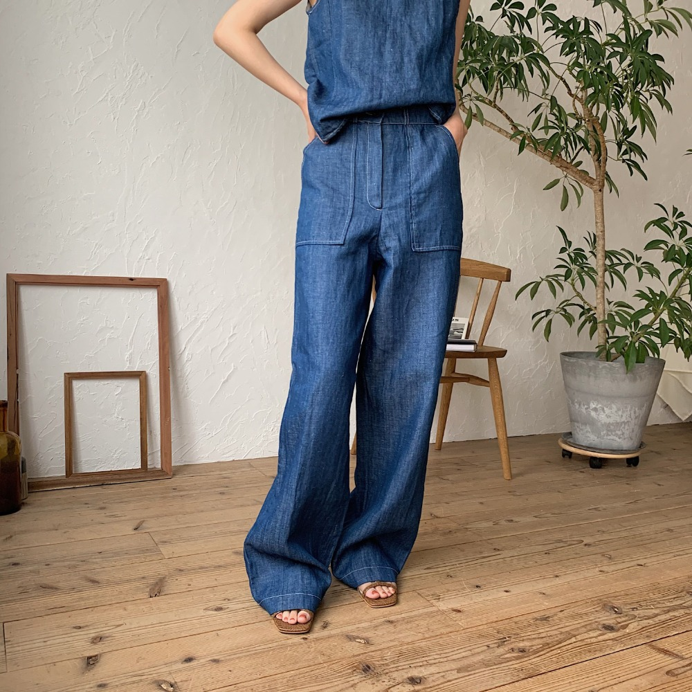 《予約販売》linen buggy pants/2colors