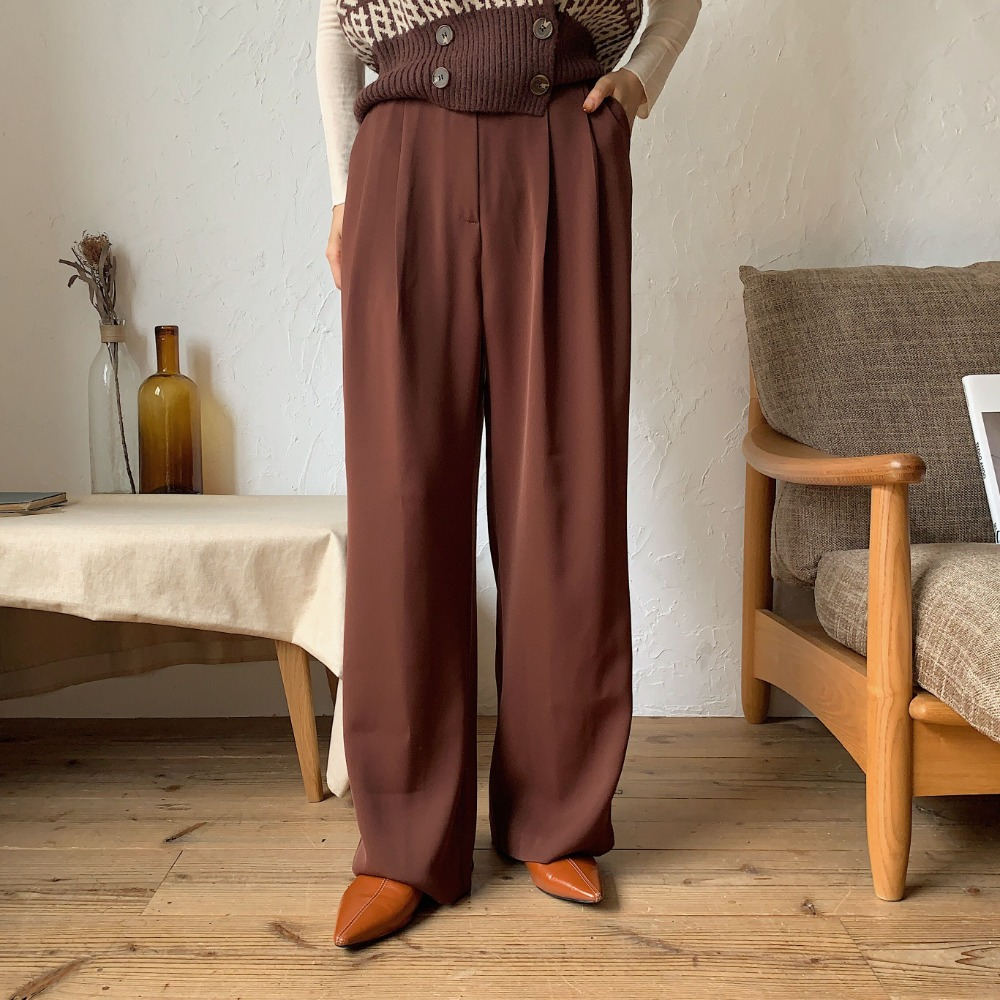 《予約販売》quality mood wide pants/2colors