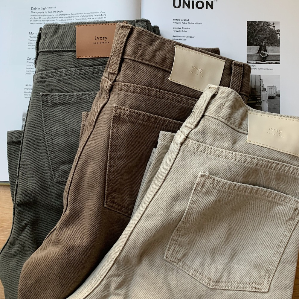 《予約販売》twill color jeans/3colors