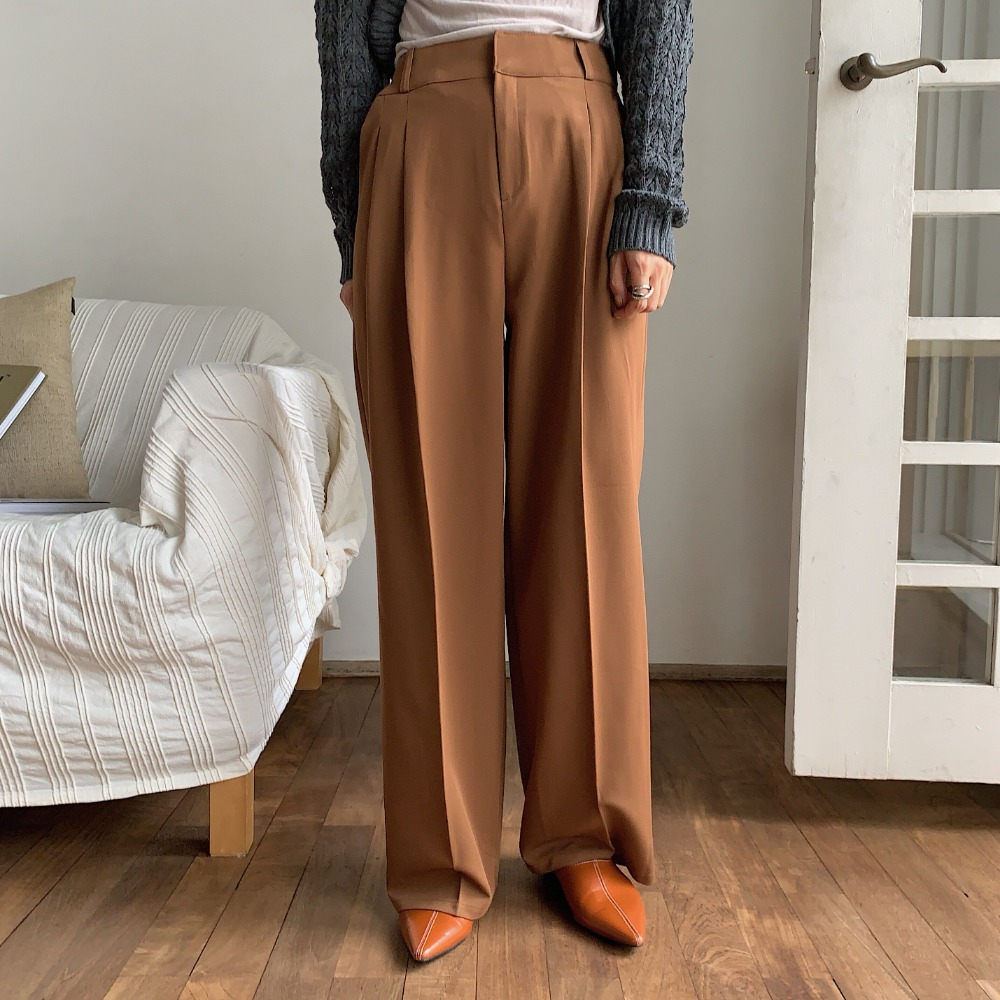 《予約販売》two tuck twil wide pants/2colors