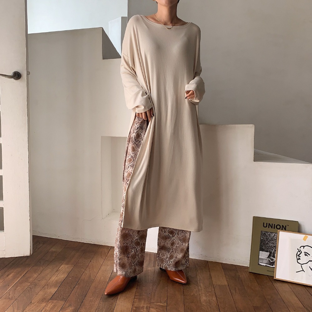 《予約販売》texture slit long daily ops/3colors