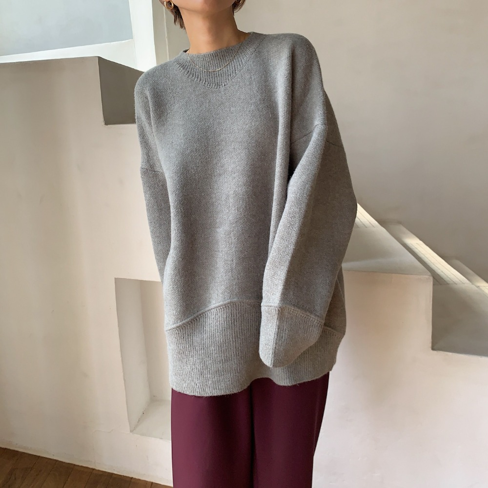 《予約販売》over lib knit/2colors