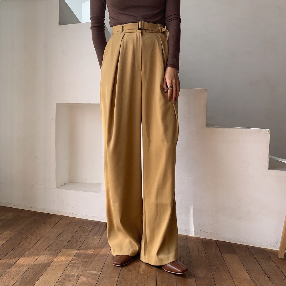 《予約販売》belt set yellow pants