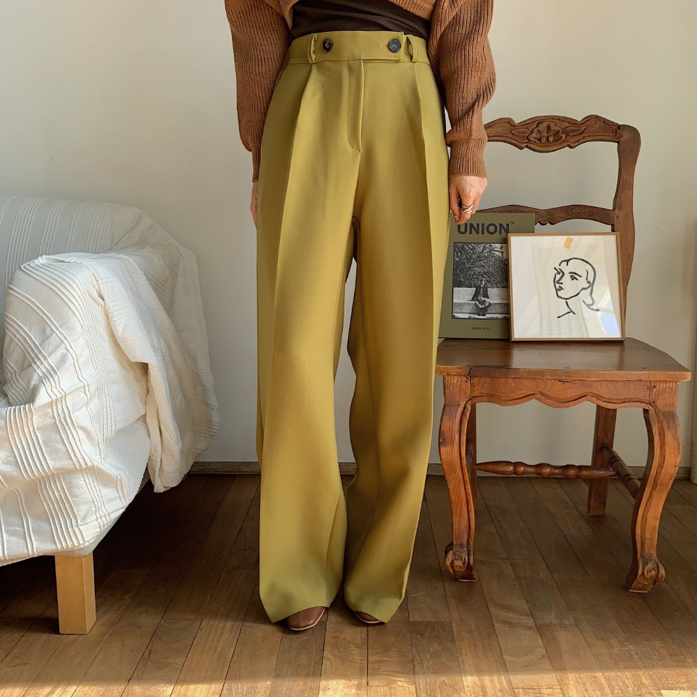 《予約販売》waist marc long wide pants/2colors