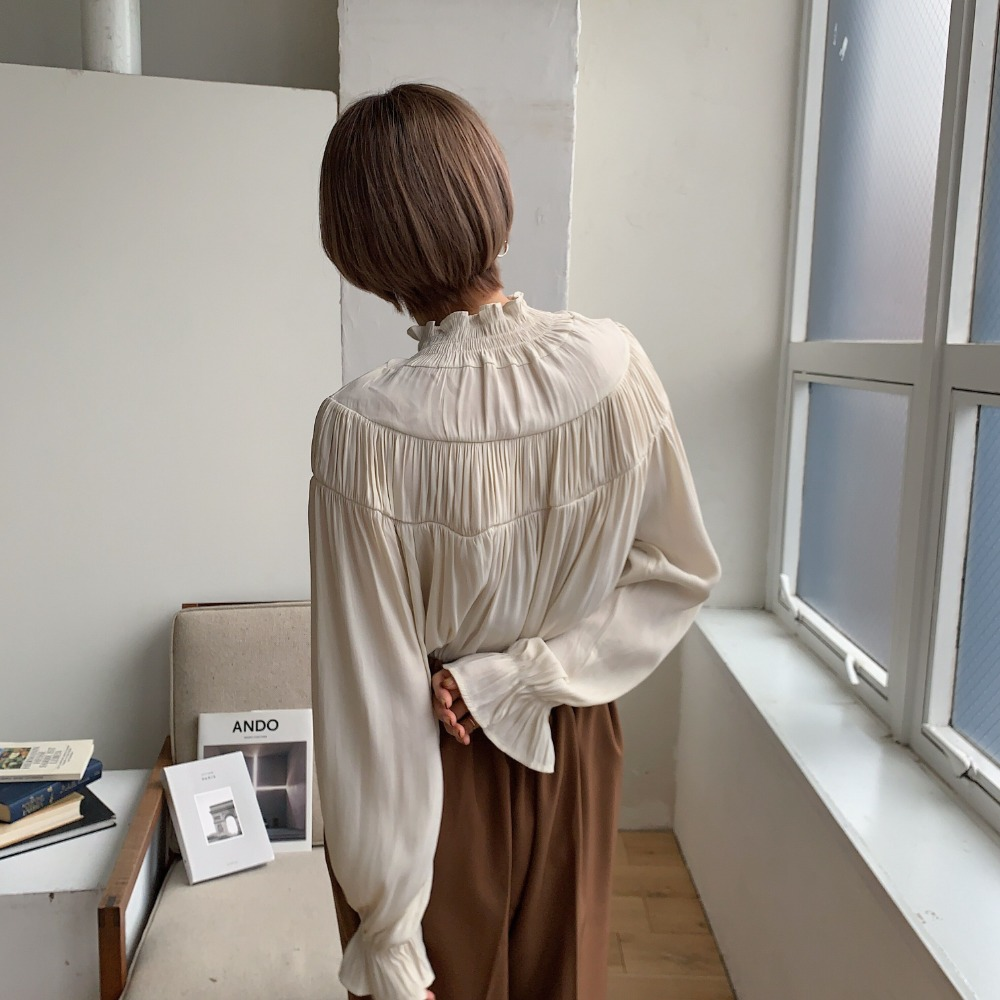 《予約販売》smoc silky blouse/2colors
