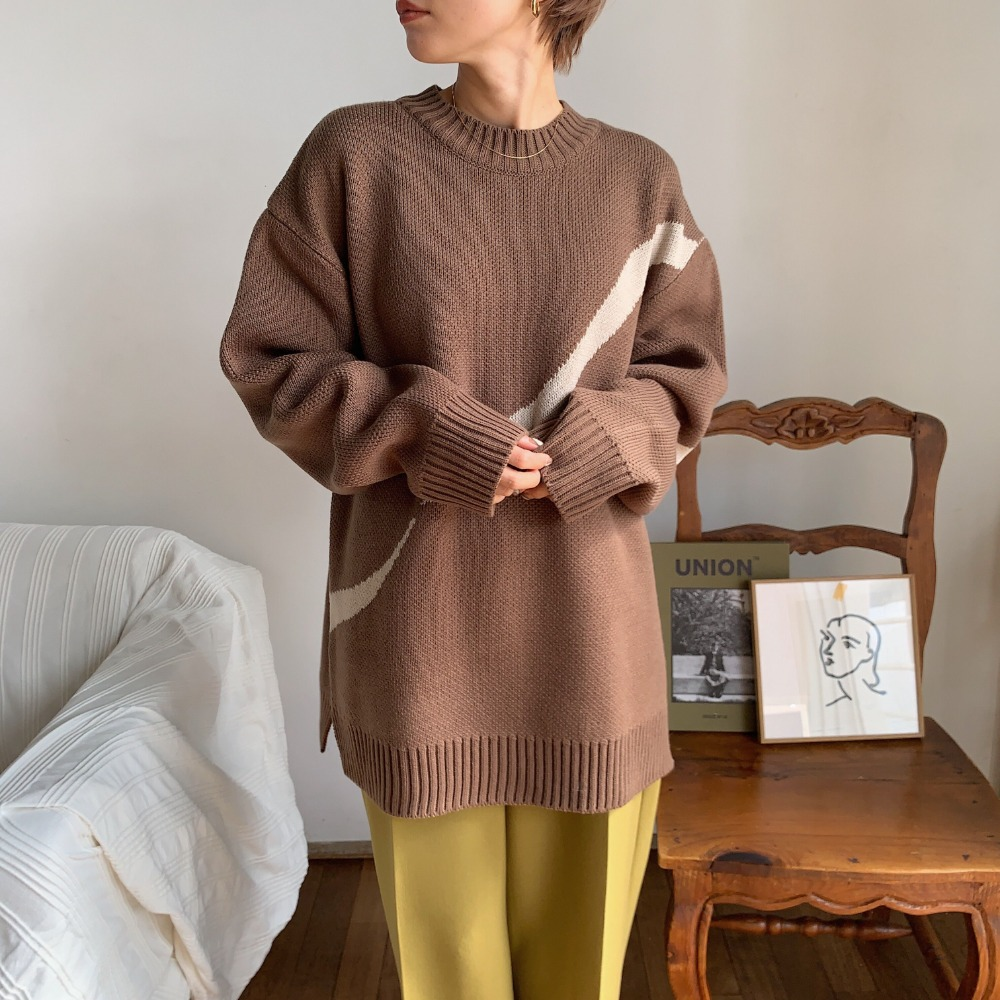 《予約販売》unisex unique line knit