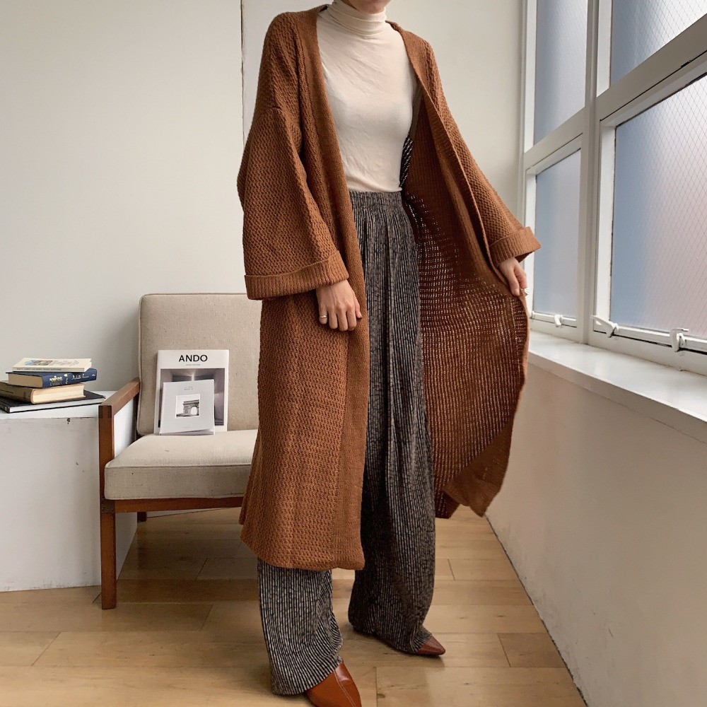 《予約販売》long knit gown/2colors