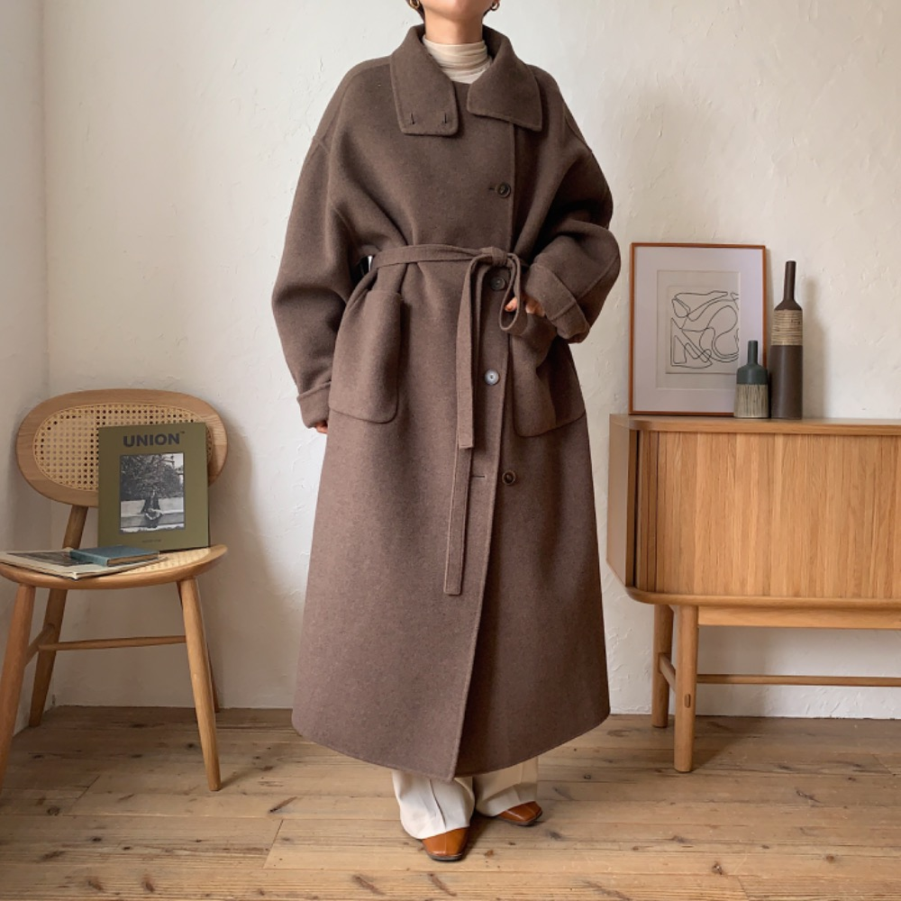 限定先行販売 【nokcha original】HAND MADE 4way over long coat/moca