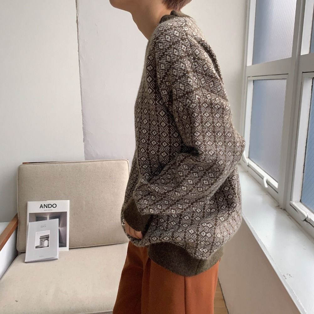 《予約販売》vintage over knit/2colors