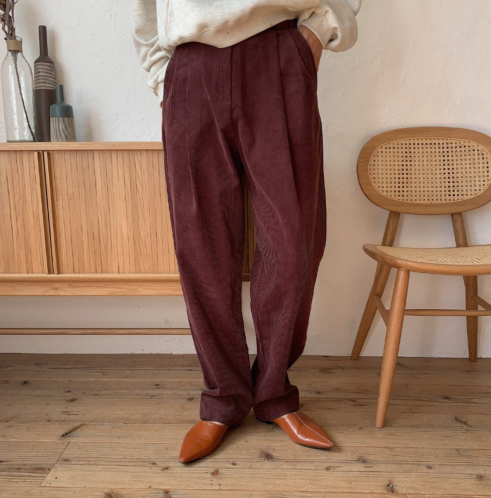 《予約販売》corduroy tuck pants/2colors