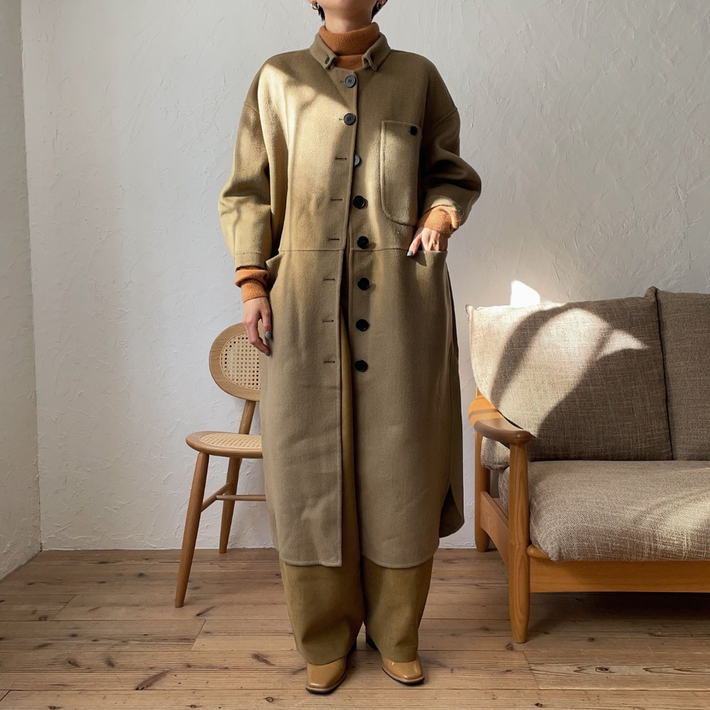 《予約販売》pocket long wool coat/2colors
