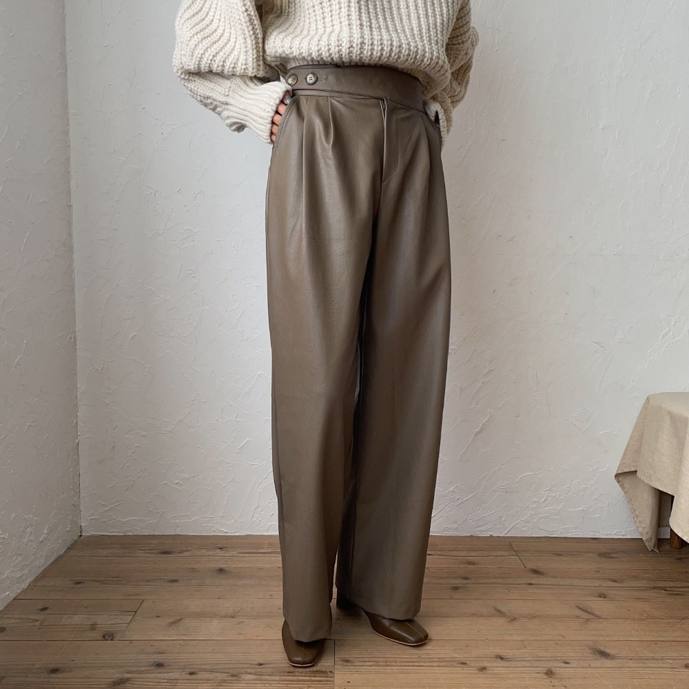 《予約販売》eco leather pants/2colors