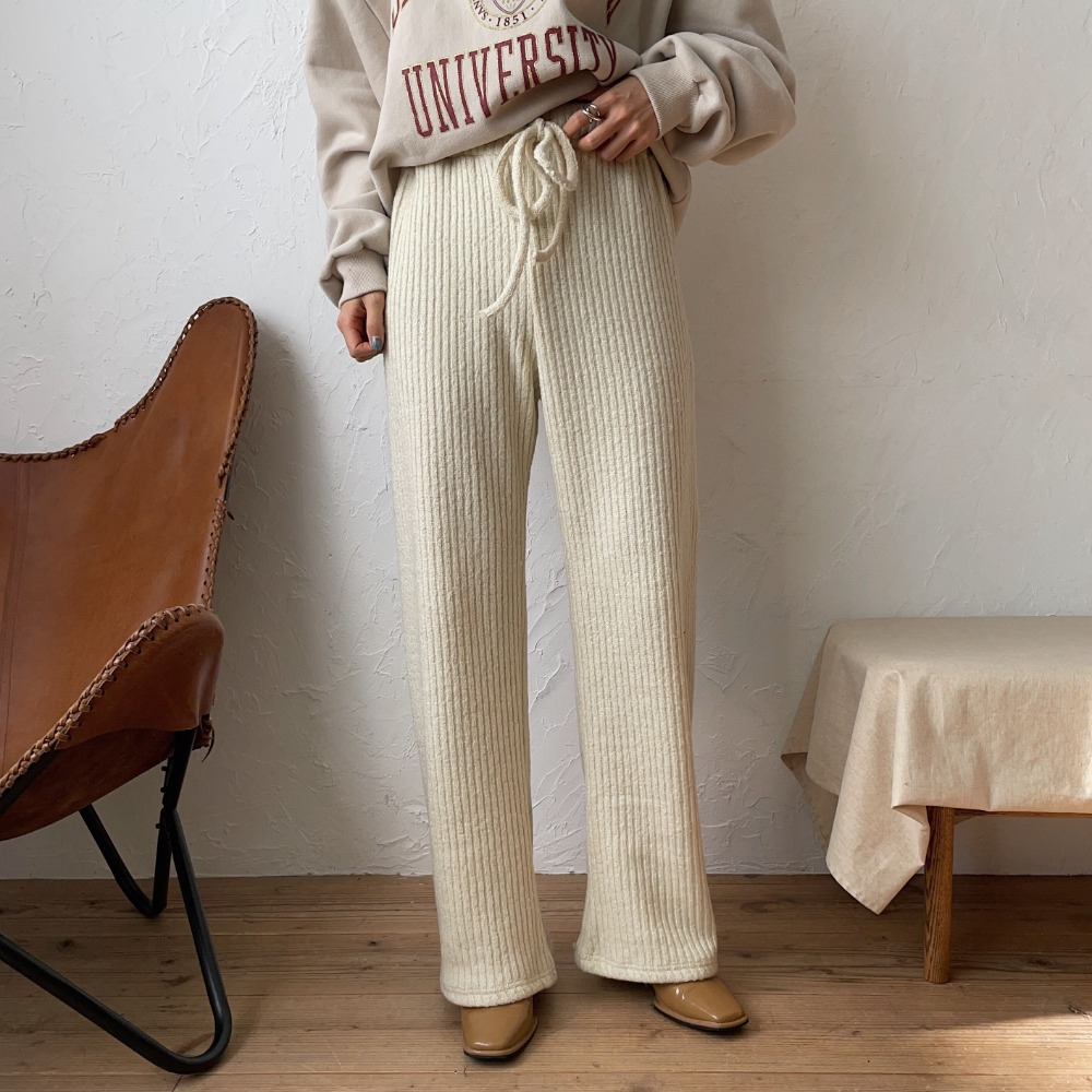 《予約販売》warm knit pants/2colors