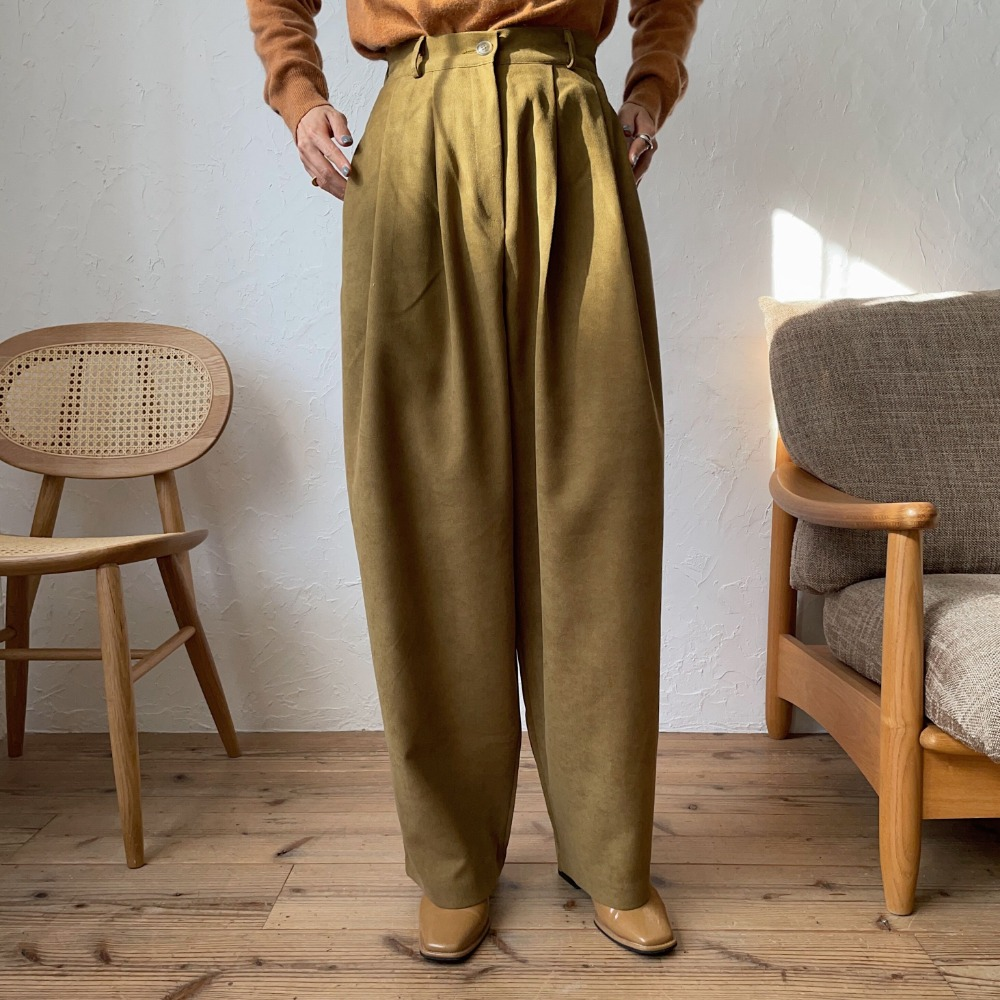 《予約販売》tuck twill wide pants/2colors