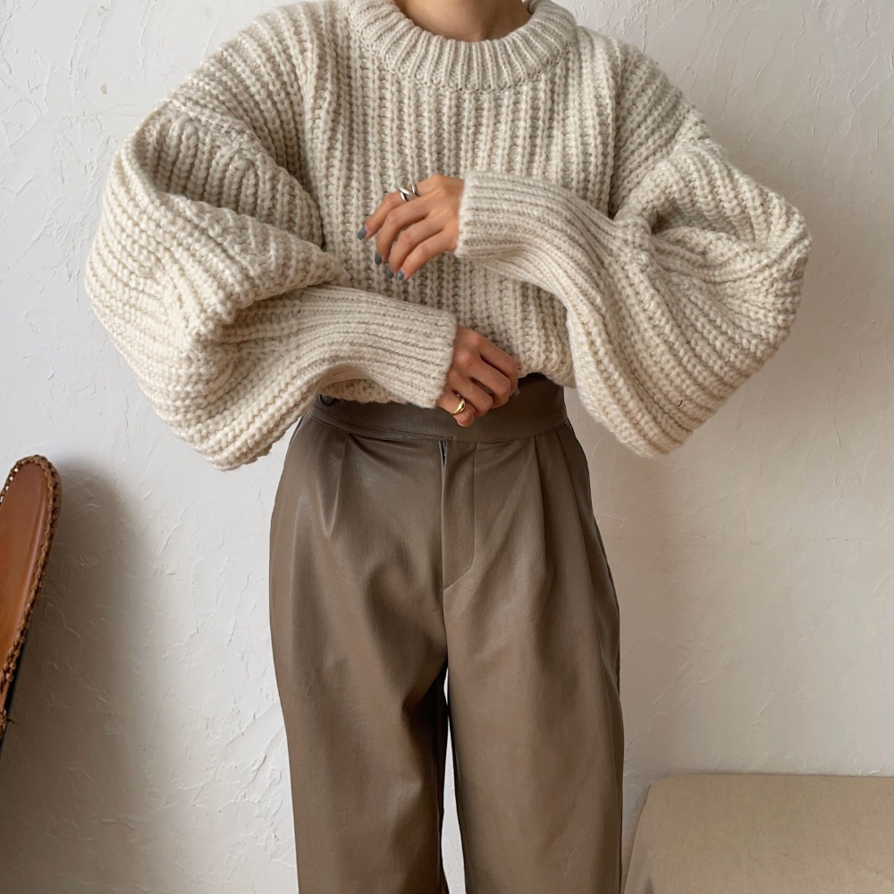《予約販売》volume sleeve warm minimal knit