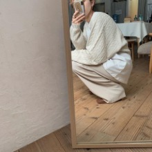 《予約販売》2set sleeve cable knit/2colors