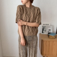 《予約販売》pattern half  knit/2colors
