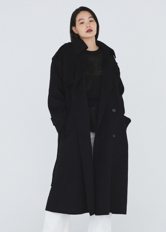 Solid Wool Trench coat