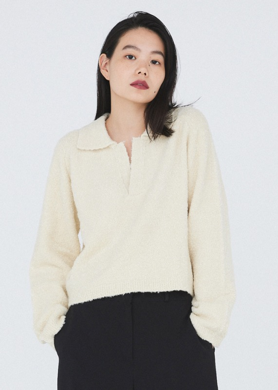 Smooth crop knit