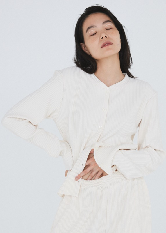 Relax fit cardigan (Ivory)