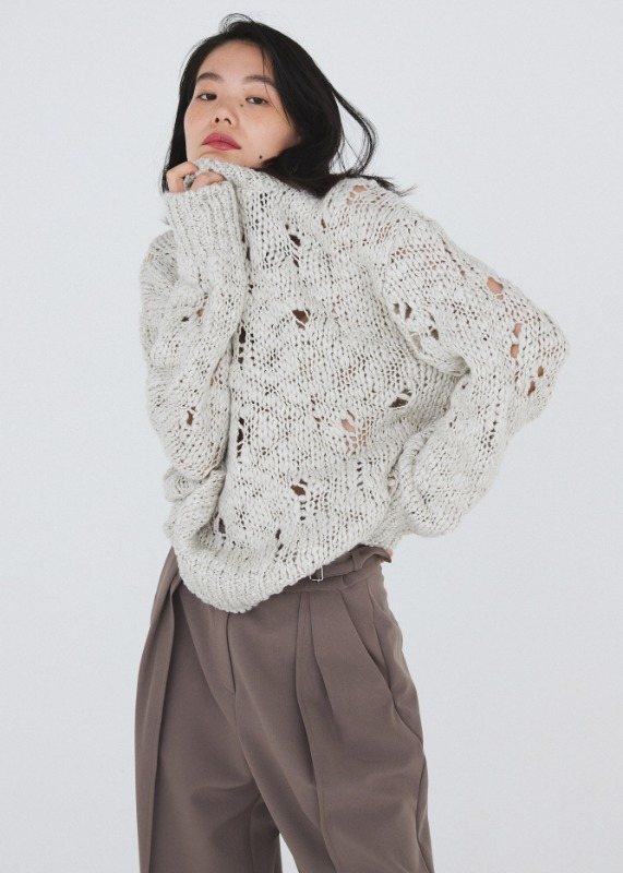 Crush knit (cool ivory)