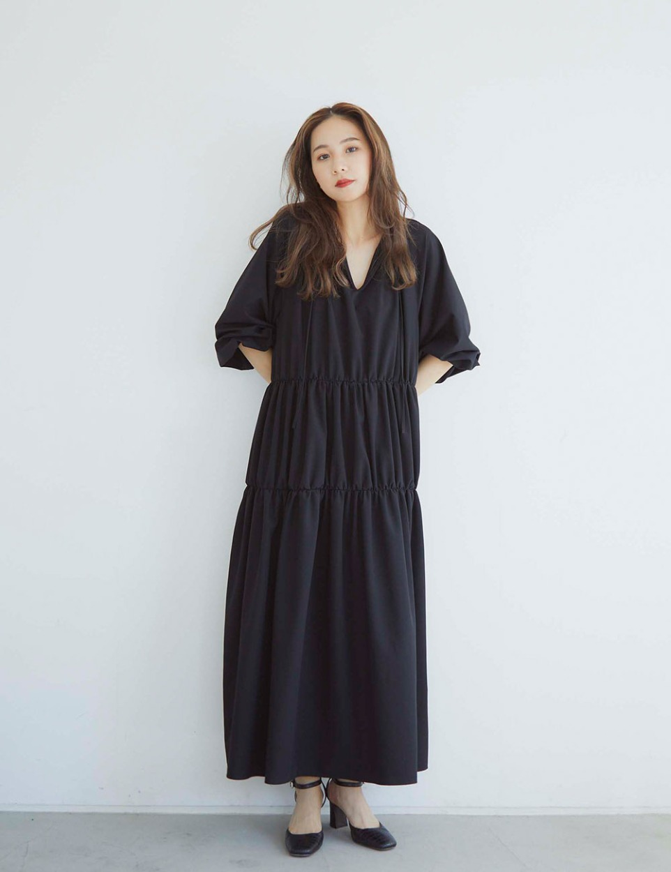 【PRE】RB shirring dress