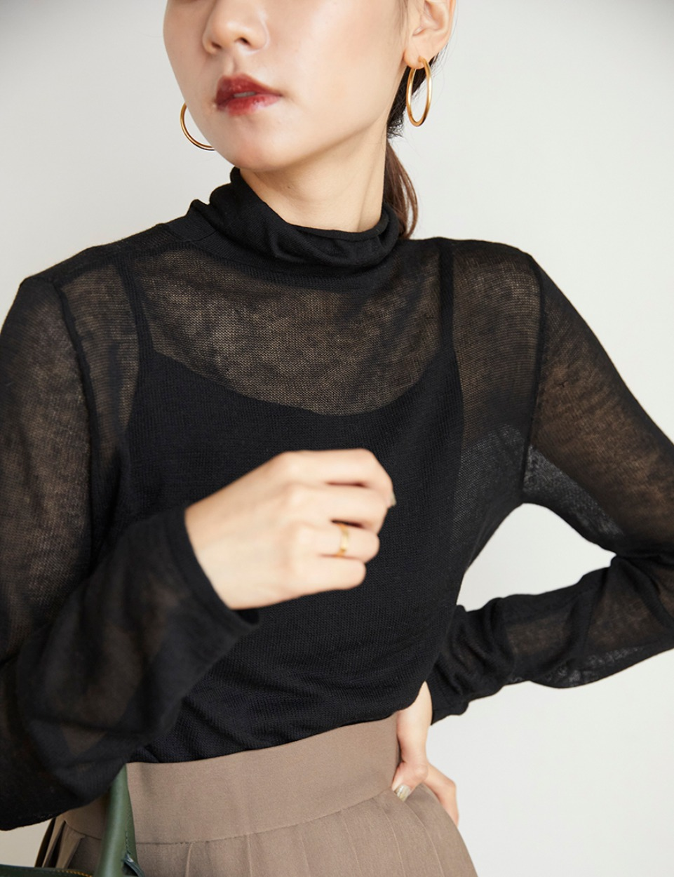 Sheer cashmere top