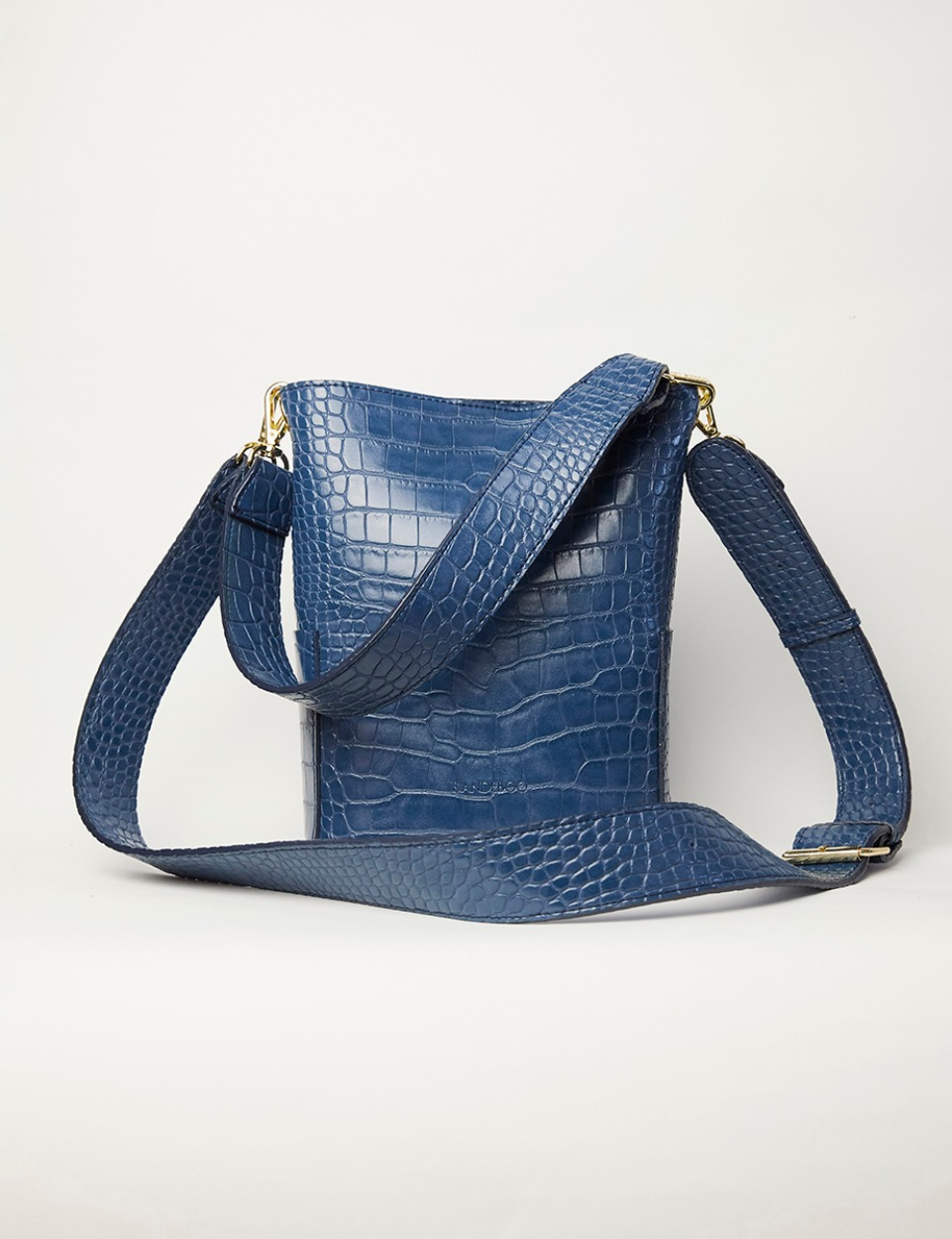 【PRE】RB croco bucket bag (blue)