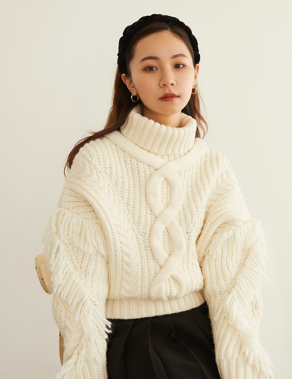 RB cable wool knit