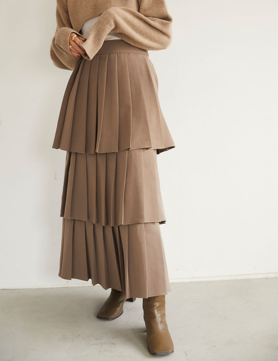 Pleats three skirt