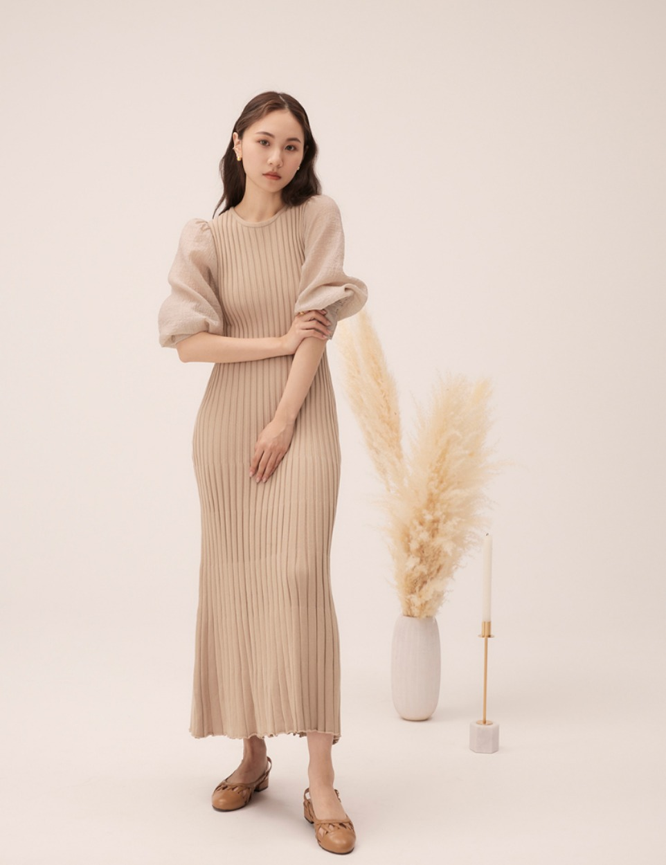 【PRE】Puff knit dress