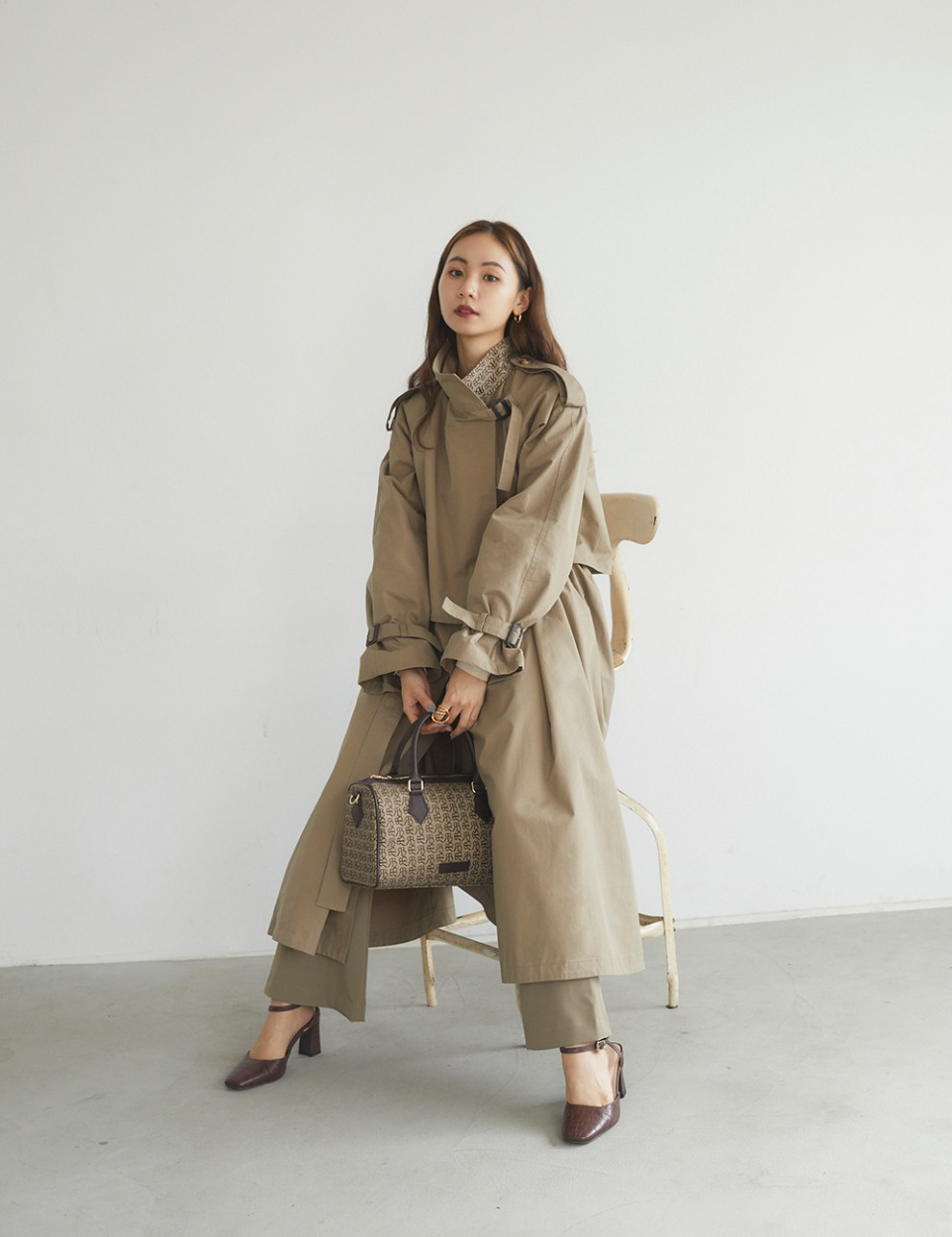 【PRE】RB monogram trench coat