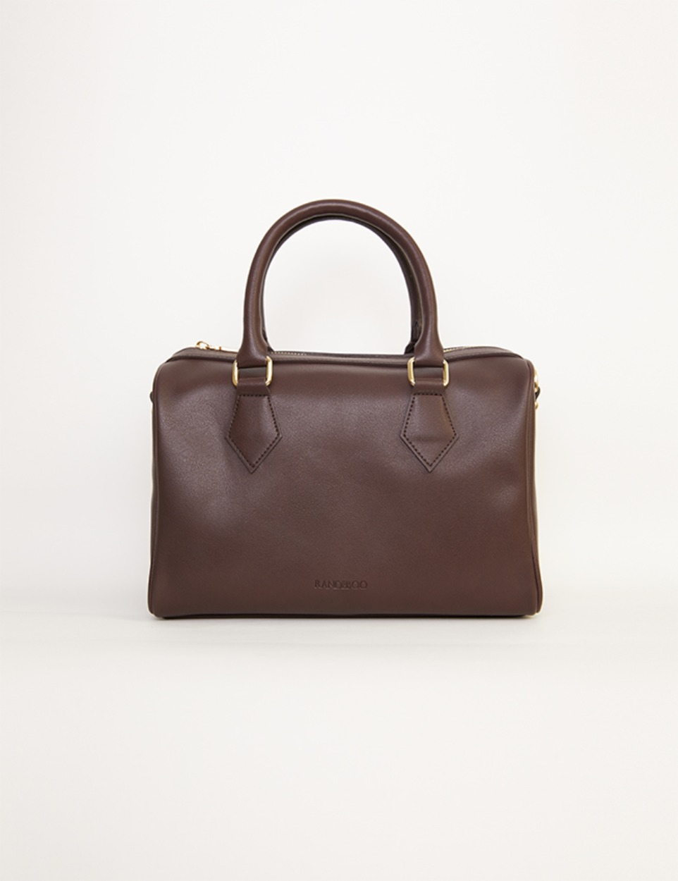 【PRE】RB boston bag (dark brown)