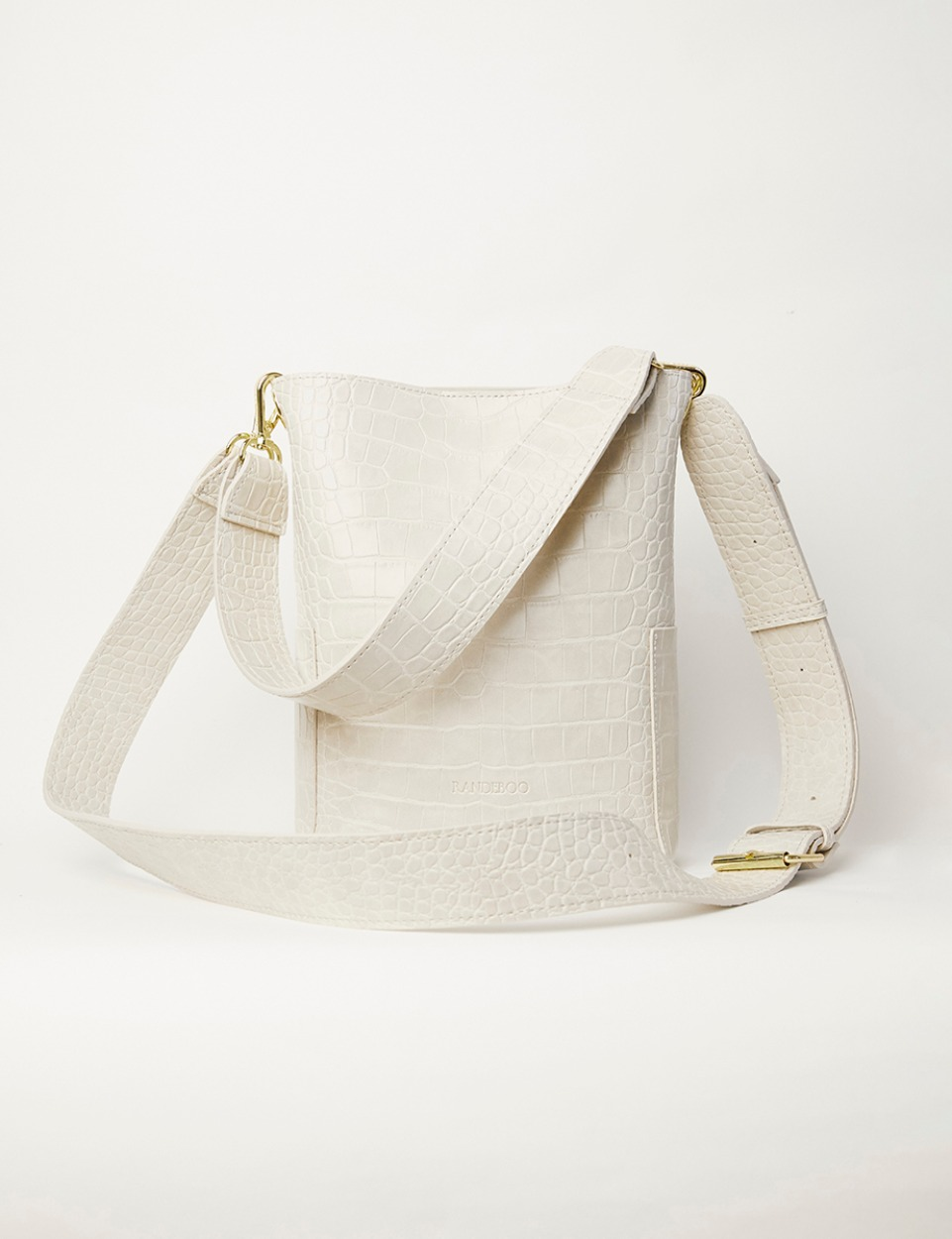【PRE】RB croco bucket bag (ivory)
