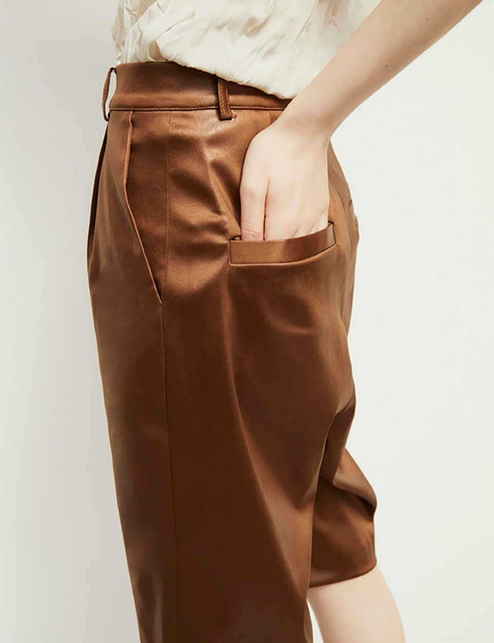 Eco leather shorts