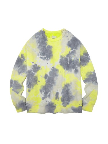 TIEDYE CREWNECK IA [LIGHT YELLOW]
