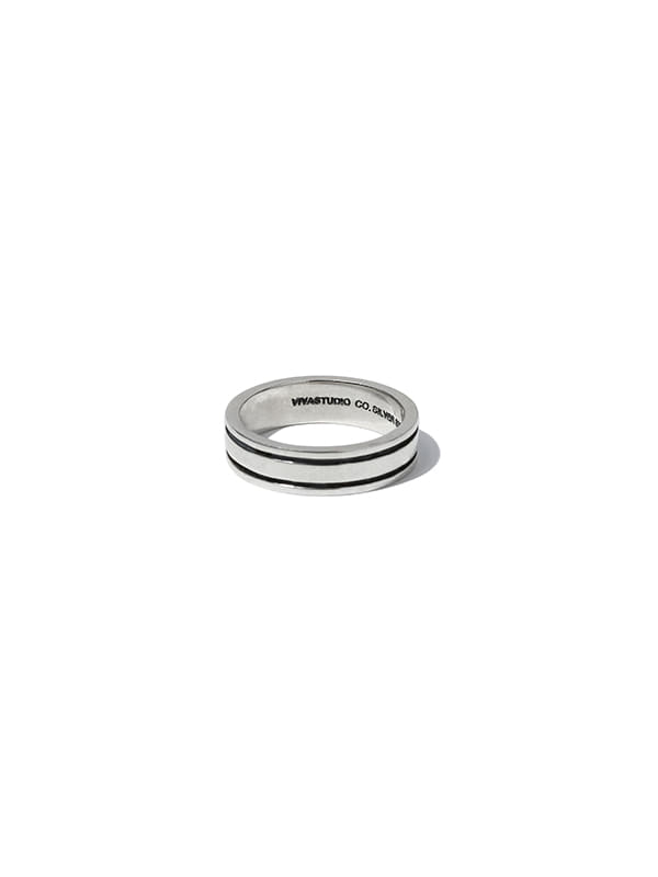 LINE RING JS [SILVER]