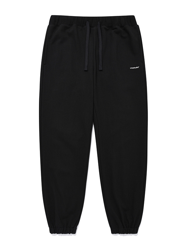 SIMPLE SWEAT PANTS [BLACK]