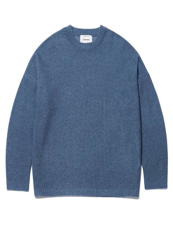 OVER FIT KNIT KS [BLUE]