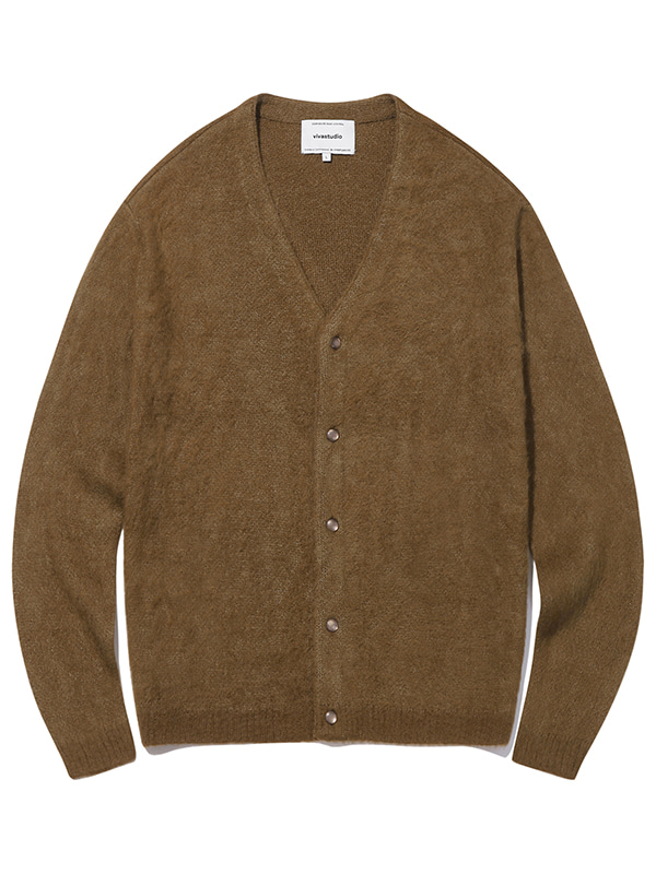 MOHAIR CARDIGAN KS [BROWN]