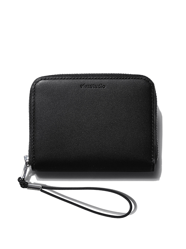 LEATHER CARD WALLET KS [BLACK]