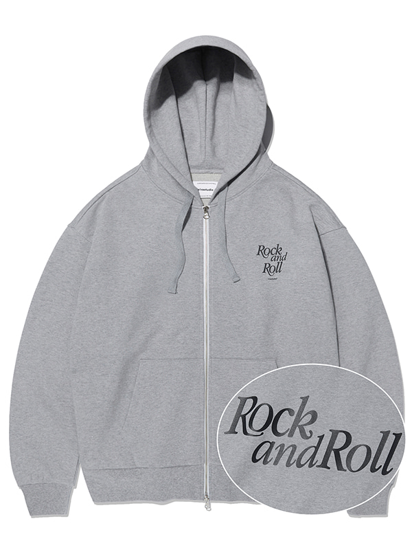ROCK AND ROLL ZIP-UP HOODIE KS [GREY]