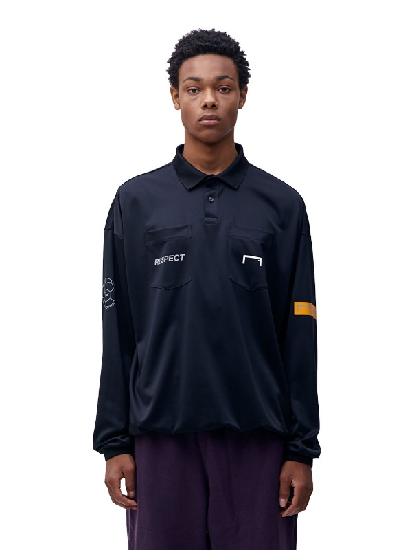 RESPECT REFEREE SHIRT - BLACK
