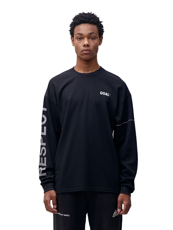 RESPECT LONG SLEEVE TEE - BLACK
