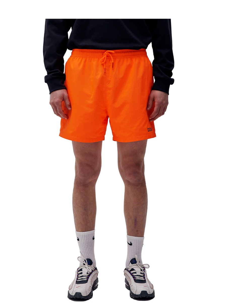 SOLID WOVEN SHORTS - ORANGE